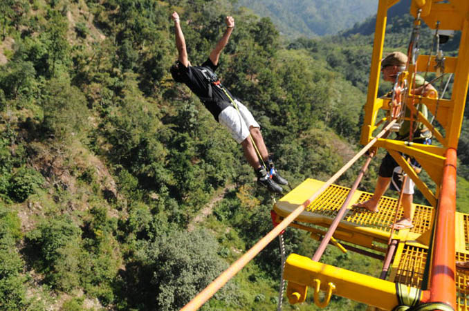 bungee jumping in rishikesh, bungy jump india