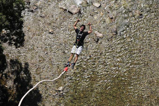 Bungy jump in india