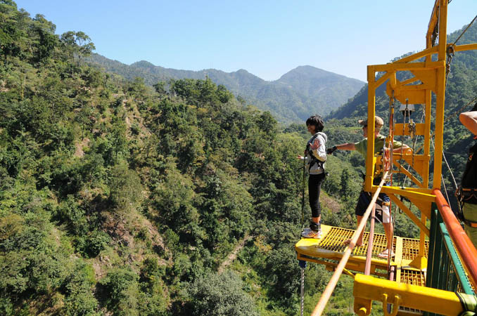 Bungy jump india